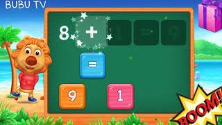 Lion teaching childrens maths solve the puzzle easy way
