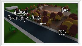 ROBLOX - France Bloxburg: Maison d'automne de style Ranch (fr) Visite guidée de l'année en visite 735k 735k