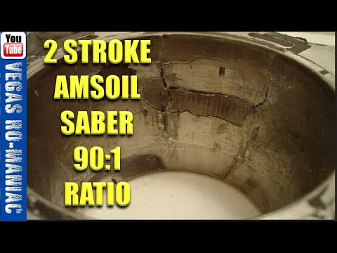 Biggest mistake? using AMSOIL SABER 90:1 ratio in my KTM 2 STROKE!
