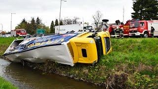 Új kamion hajtott a Gyöngyös patak medrébe - Infarktust kapott  a sofőr Kőszegnél