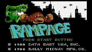 Rampage - NES Gameplay