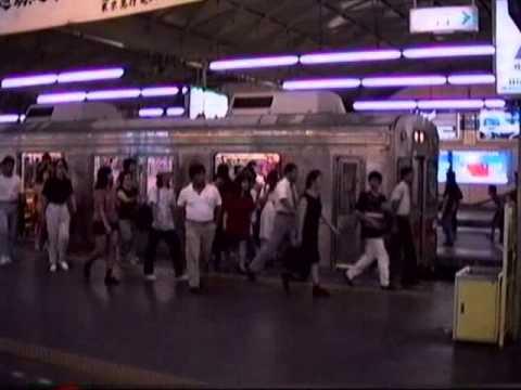 1991 品川駅東口(港南口)横断トンネル Shinagawa Station East Exit Tunnel 910810posted by nakvasimon