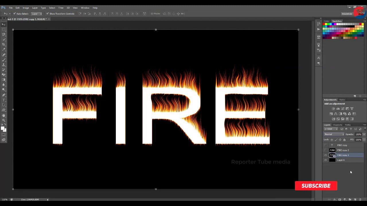 ✔Fire Text Effect In Photoshop #tutorial ll এই শ্বশুরের বিষয়টি জেনেনিন ➤Reporter Tube Media
