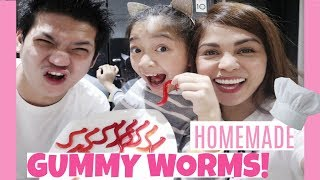 how to make gummy worms cake