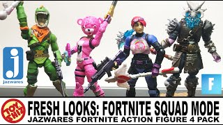Toy Shiz FRESH LOOKS: Fortnite SQUAD MODE 4 Pack By Jazwares Toys