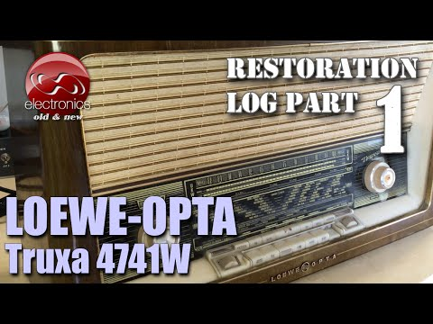 Loewe-Opta Truxa Stereo 4741W tube radio restoration - Part 1. Check-up and first power up.