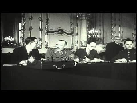 William Strang, F.T. Gousev and John Winant head a European Advisory Commission i...HD Stock Footage