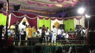 Mr Rajesh singing popular song.