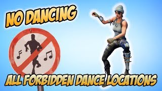 All Forbidden Dance Locations in Fortnite Battle Royale (Weekly Battle Pass Challenges | Week 2)
