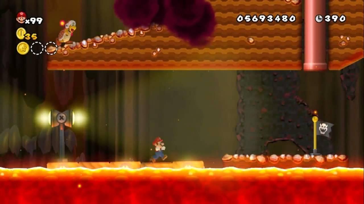 Newer Super Mario Bros Wii World 8 6 Volcano Rapids Youtube