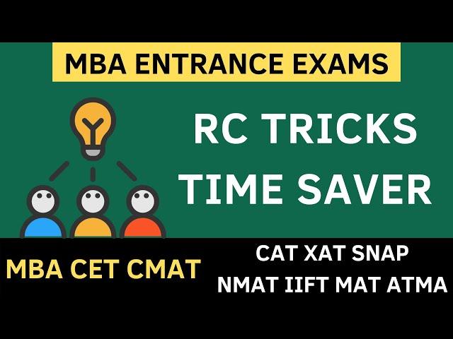 Reading Comprehension Tricks - MBA CET 2020, CMAT 2020, ATMA MAT