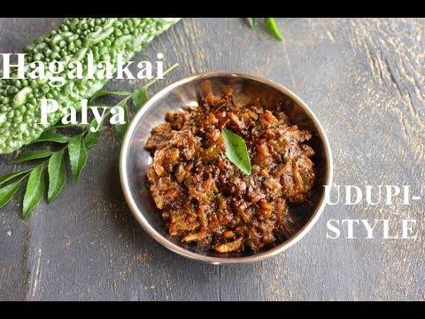 Hagalakayi Palya | Bittergourd Stirfry in Udupi style