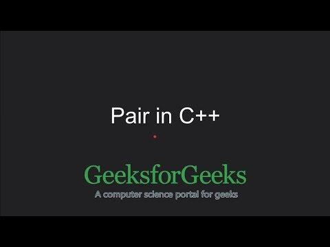 C++ Programming Language Tutorial | Pair in C++ STL | GeeksforGeeks
