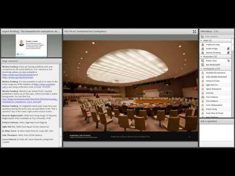Expert Briefing on the Humanitarian Exemptions Debate