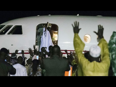 Gambia: ex-leader Jammeh 'plundered' $11 million before fleeing country