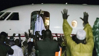 Gambia  ex leader Jammeh 'plundered'  million before fleeing country
