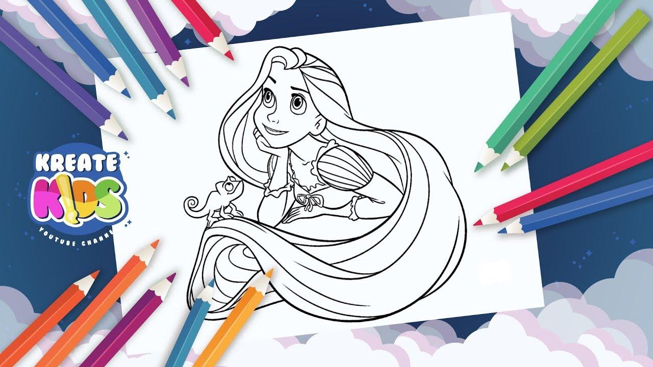 Disegni Da Colorare Gratis Ariel.Disney Rapunzel Tangled Disegni Da Colorare Coloring