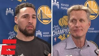 "Klay Thompson and Steve Kerr say ""embarrassing"" loss to Bucks at Oracle fueled Warriors 