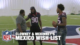 Jadeveon Clowney & Benardrick McKinney's Wish List   Spice Adams on Whistle Sports   NFL