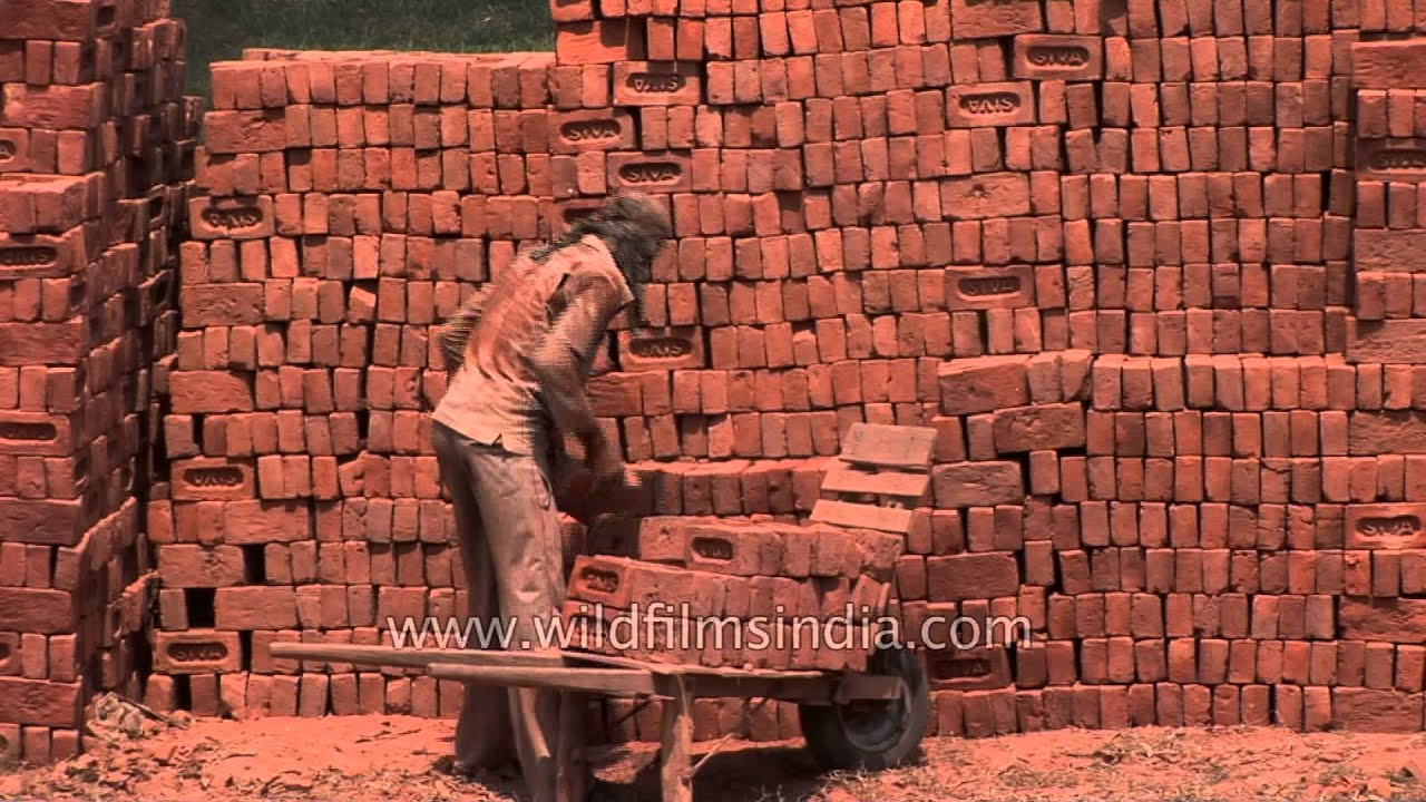 Bricks made in an indian village kiln youtube for What to do with bricks