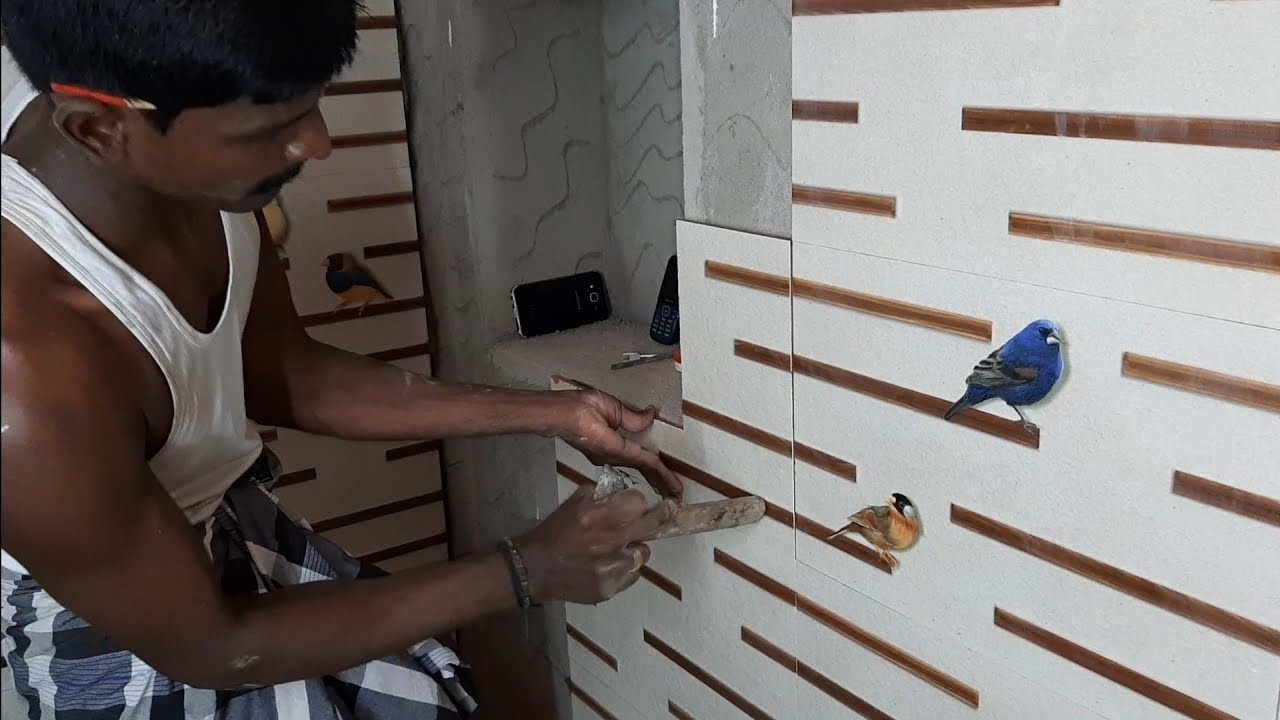 Amazing technology-how to install bathroom wall tile-using ...