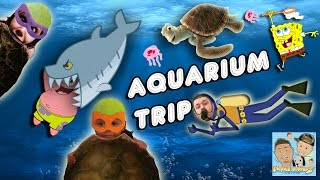 aquarium fun day w slimey jelly fish scary sharks touch tank    dingle hopperz vlog