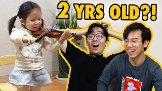 Professional Violinists React to a 2-Year-Old PRODIGY Progress Video