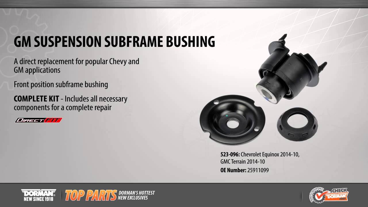 Gm Suspension Subframe Bushing Youtube