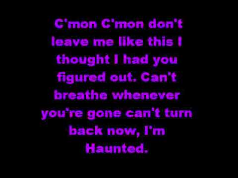 Taylor Swift Haunted with lyrics on screen