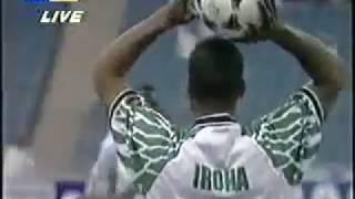 Argentina vs Nigeria 1995 in German