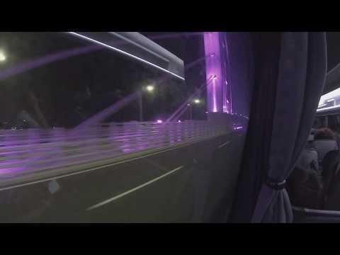 HongKong-Zhuhai-Macao Bridge Bus Macao  to Hong Kong Left View 2018-11