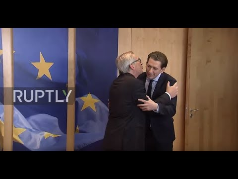 Love is not in the Herr! Austria's Kurz rejects Juncker's attempted smooch