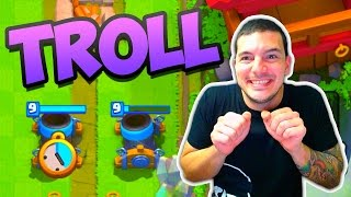 Clash Royale TROLLING PLAYERS!!
