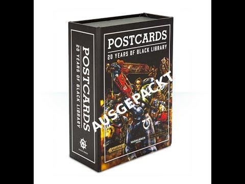 Black Library: Postkarten-Set (Jubiläumsedition) ausgepackt