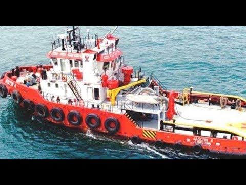 Anchor Handling Tug Rescuing Ship