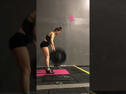 Power clean and jerk 60%x3