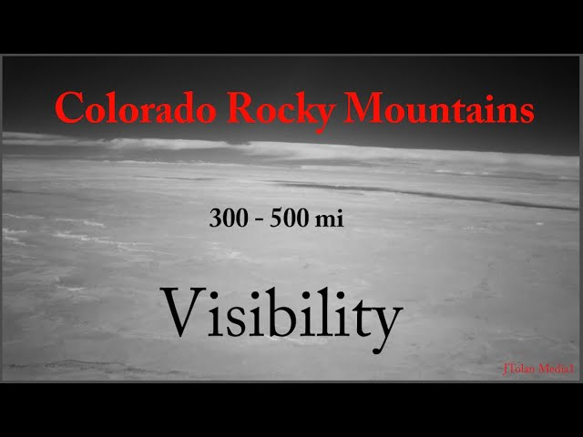 Colorado Rocky Mountains from 300 to 500 Miles Away in Infrared