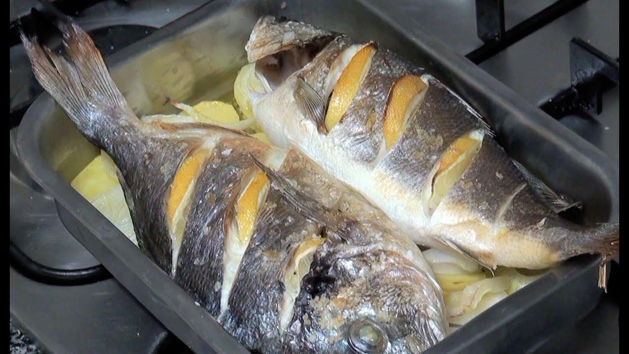 Dorada y lubina al horno v deo receta 05 aqu cocinamos for Cocinar pez espada al horno