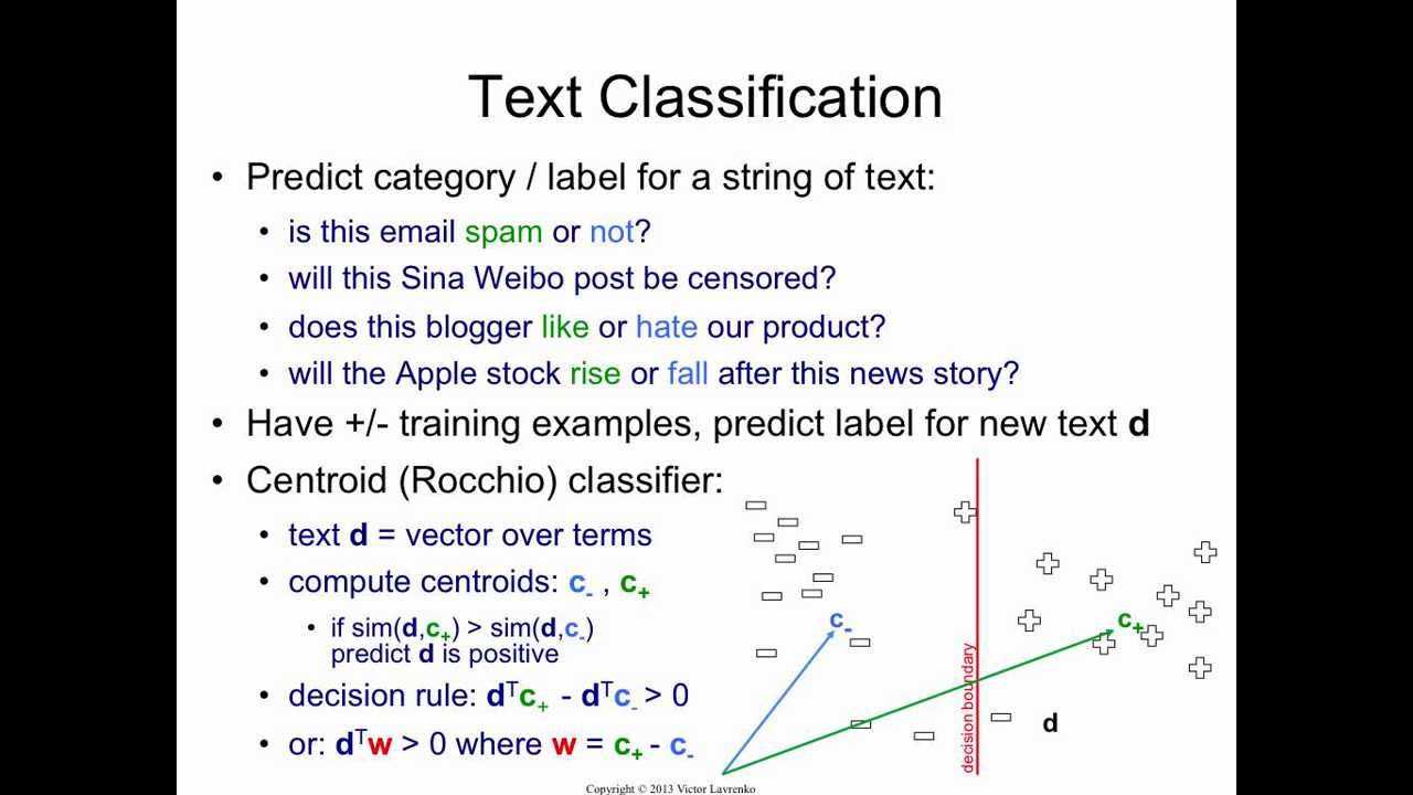 Text Classification 1: Centroid Method - YouTube