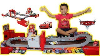 NEW DISNEY CARS SUPER TRACK MACK TRANSFORMING MACK HAULER UNBOXING,REVIEW