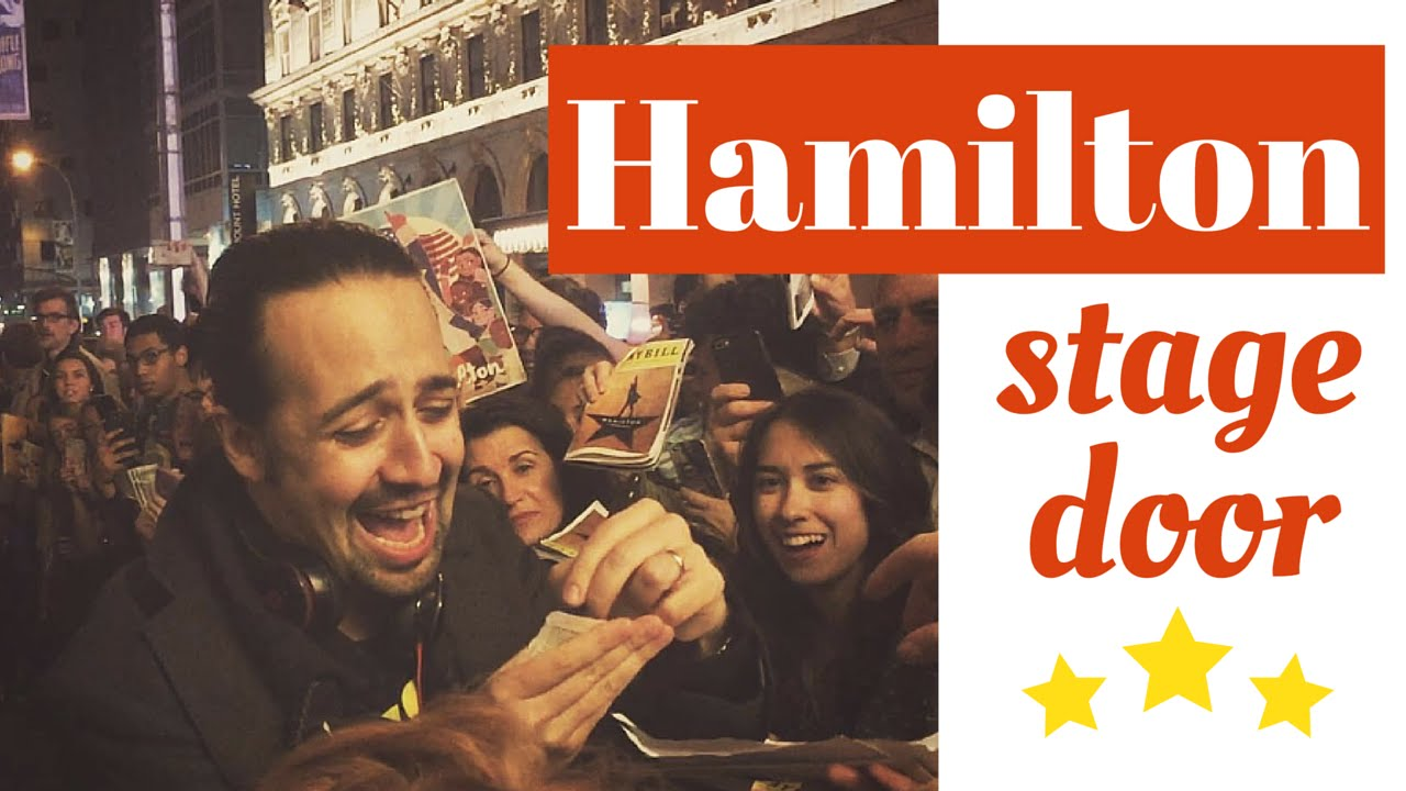 Hamilton on Broadway - stage door with Lin-Manuel Miranda 5/24/16  sc 1 st  YouTube & Hamilton on Broadway - stage door with Lin-Manuel Miranda 5/24/16 ...