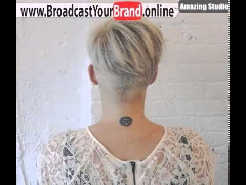 Blonde Pixie With Nape Undercut Youtube
