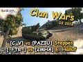 WoT CW: Clan Wars out of Self-propelled gun view, CGC [C_V], M40/M43 [-FTR-] Arty, SPG