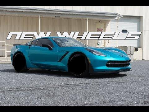 Widebody Corvette Gets NEW WHEELS!