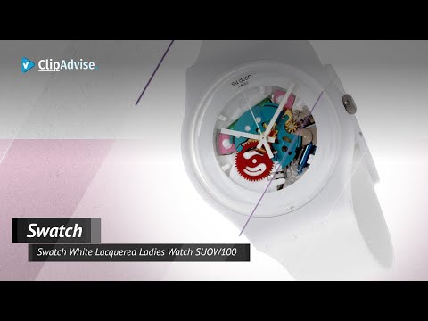 Swatch White Lacquered Ladies Watch SUOW100 | White Lacquered Ladies Watch