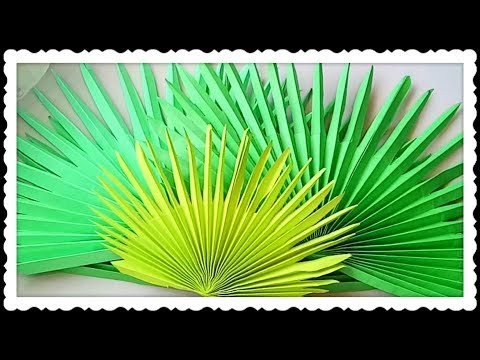 DIY Easy Paper Palm Leaves Tutorial    Tropical Decorating Ideas