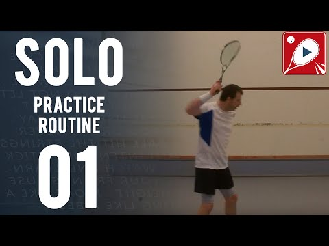 Solo Practice Routine 01 - 5 Solo Routines EVERY Squash Player Should Try!