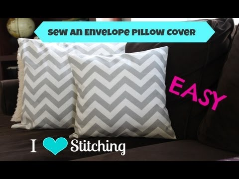 Sew An Envelope Pillow Cover Beginner