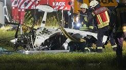 Hubschrauber stürzt bei Oberlahr in die Wied: Zwei Männer sterben