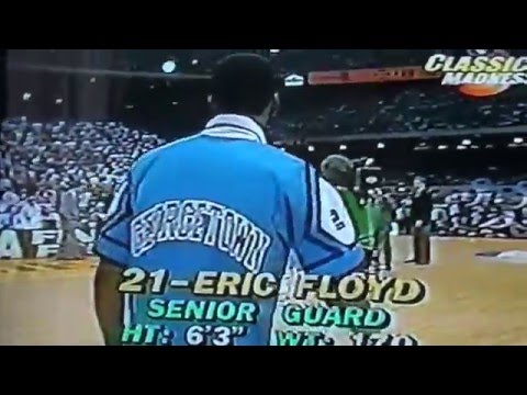 1982 NCAA basketball Final North Carolina vs Georgetown Starter Intro. Michael Jordan Pat Ewing